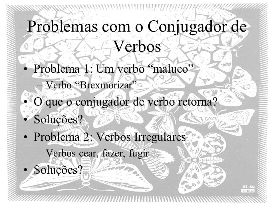 Problemas com o Conjugador de Verbos