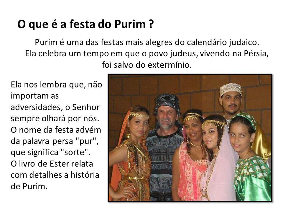 Purim é uma das festas mais alegres do calendário judaico.