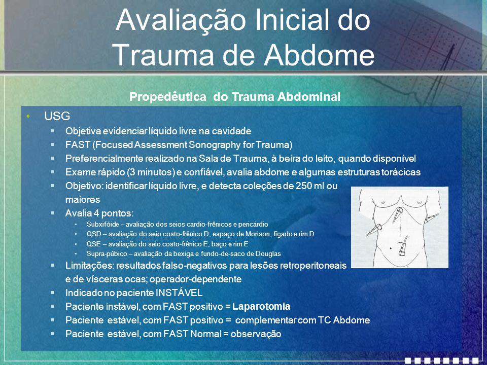 Avaliação Inicial do Trauma de Abdome