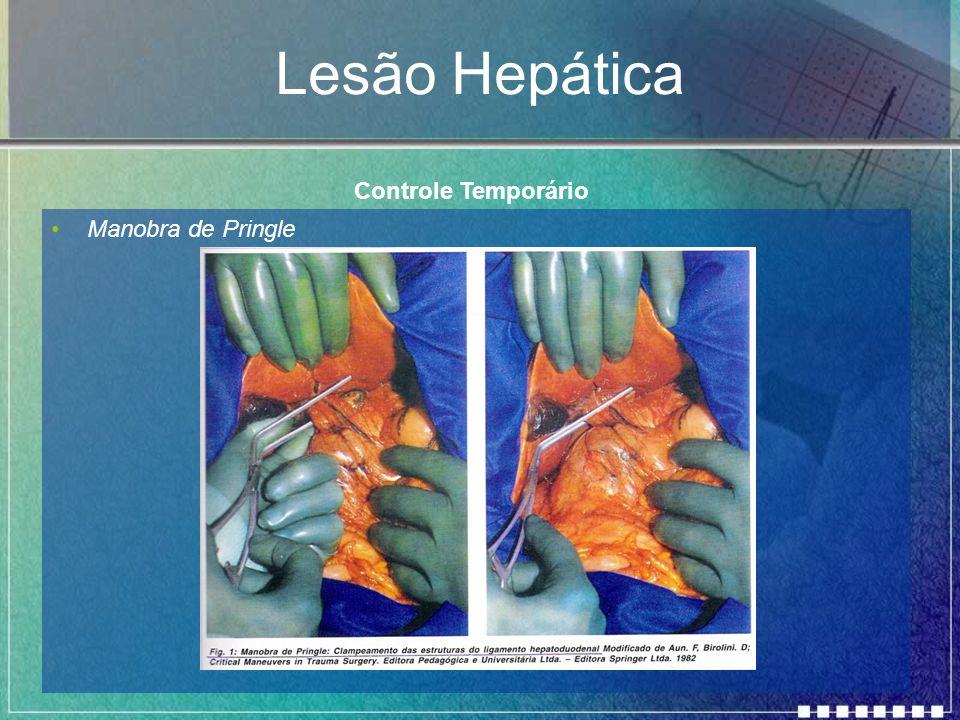 Lesão Hepática Controle Temporário Manobra de Pringle