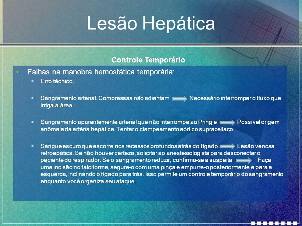 Lesão Hepática Controle Temporário