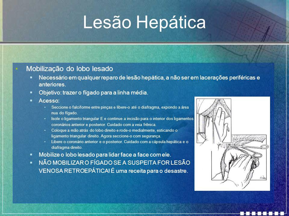 Lesão Hepática Mobilização do lobo lesado