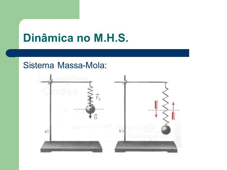 Dinâmica no M.H.S. Sistema Massa-Mola: