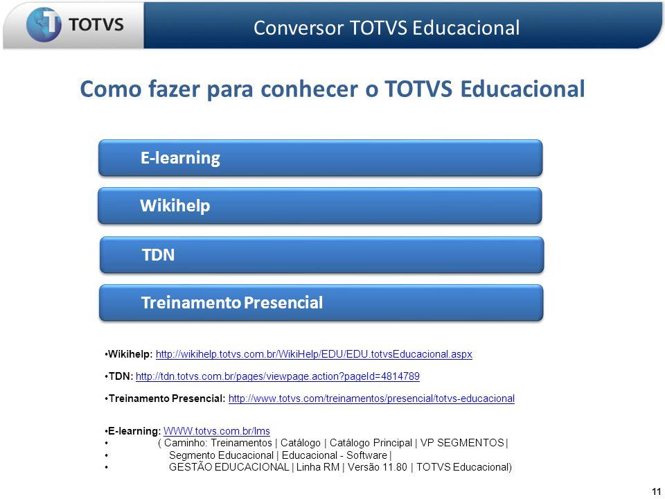 Como fazer para conhecer o TOTVS Educacional