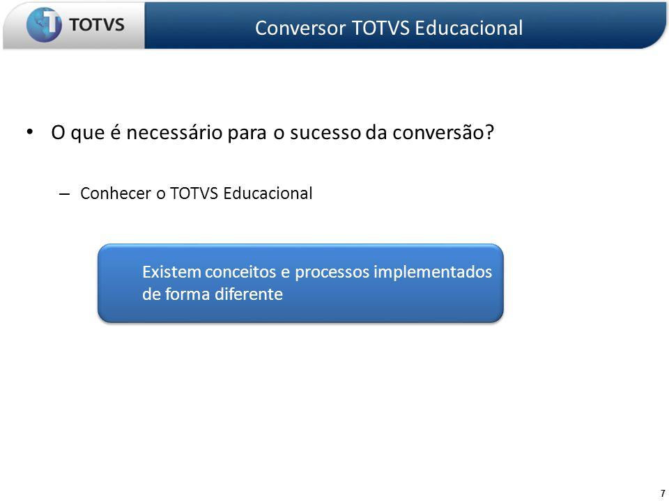 Conversor TOTVS Educacional