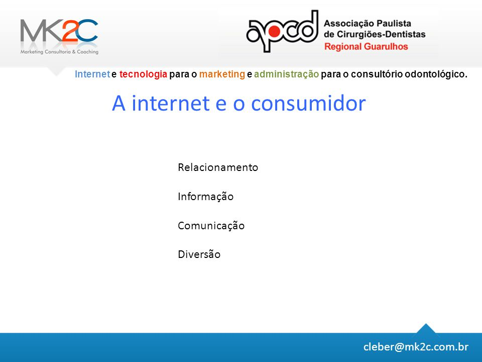 A internet e o consumidor