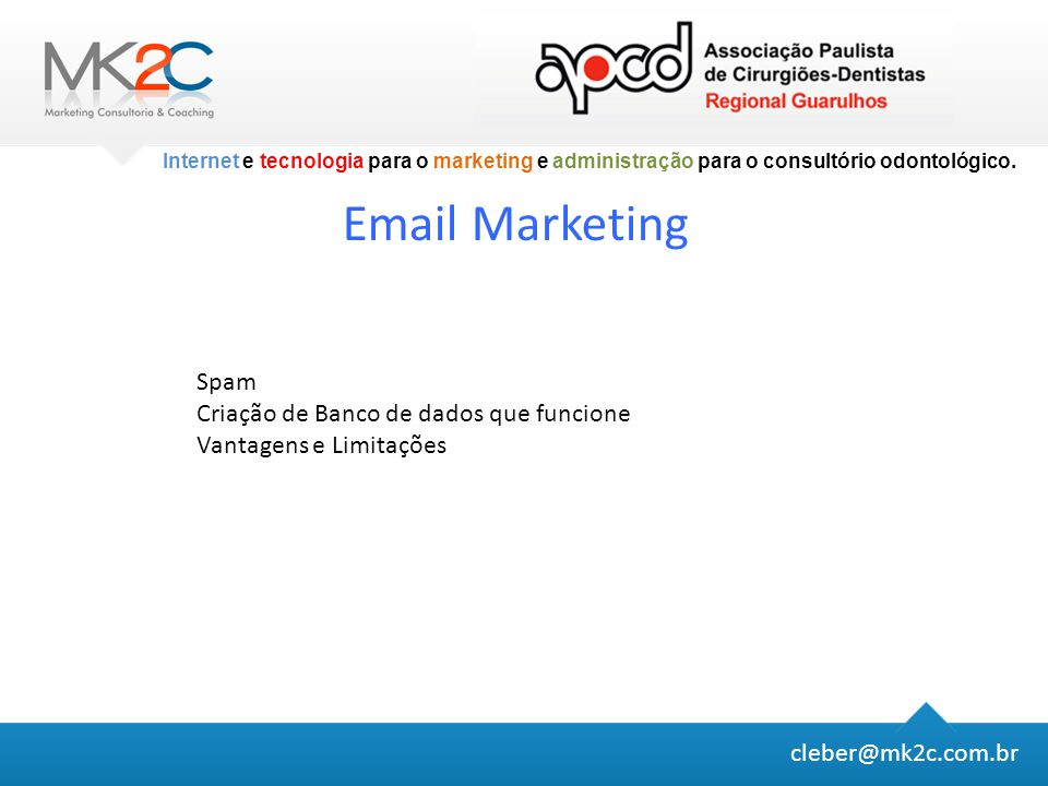 Email Marketing Spam Criação de Banco de dados que funcione