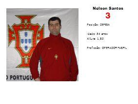 Nelson Santos 3 Posição: DEFESA Idade: 34 anos Altura: 1,80