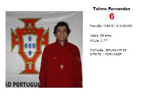 Telmo Fernandes 6 Posição: MEDIO / AVANÇADO Idade: 26 anos