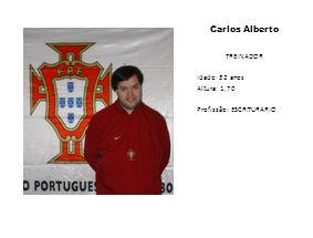 Carlos Alberto TREINADOR Idade: 32 anos Altura: 1,70