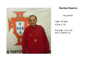 Carlos Castro ROUPEIRO Idade: 49 anos Altura: 1,78