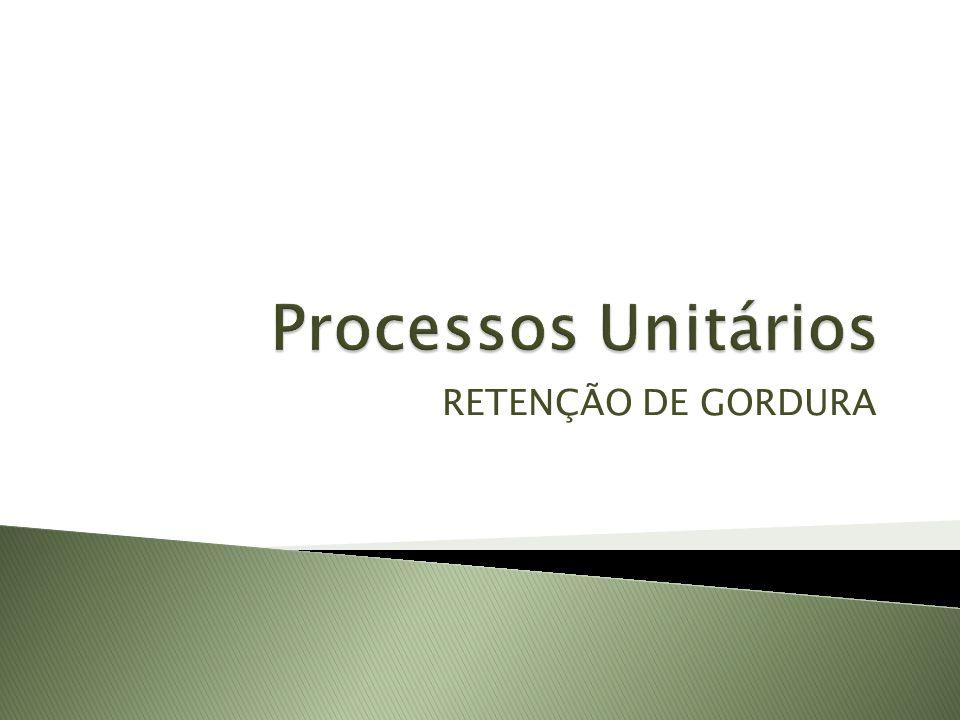 Processos Unitários RETENÇÃO DE GORDURA