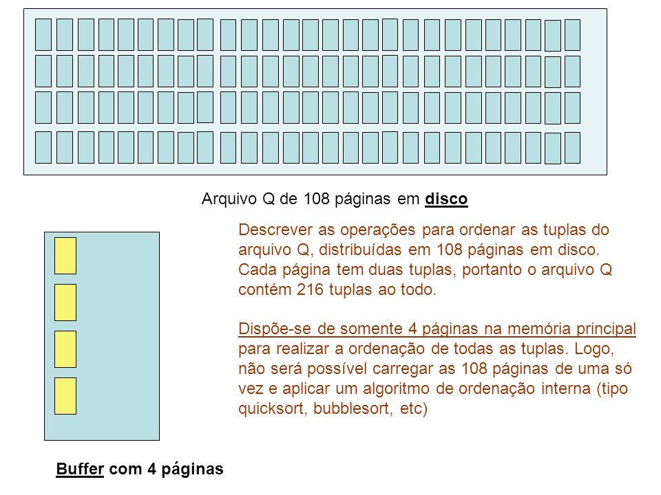 Arquivo Q de 108 páginas em disco