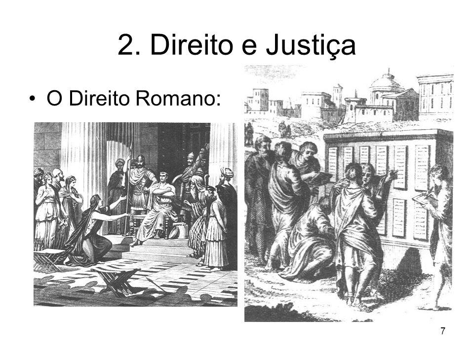 2. Direito e Justiça O Direito Romano: