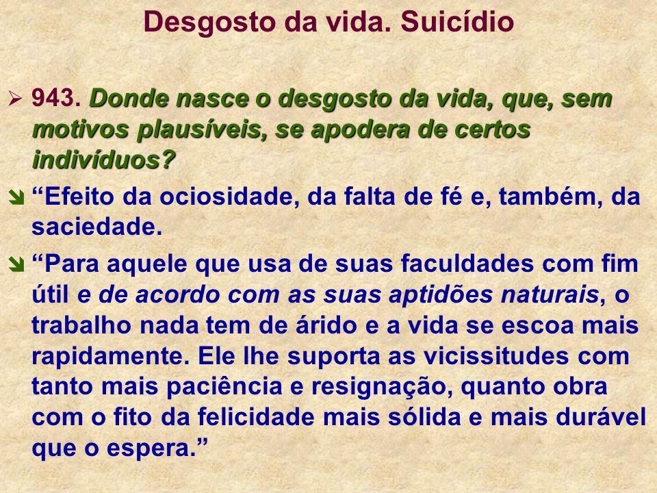 Desgosto da vida. Suicídio