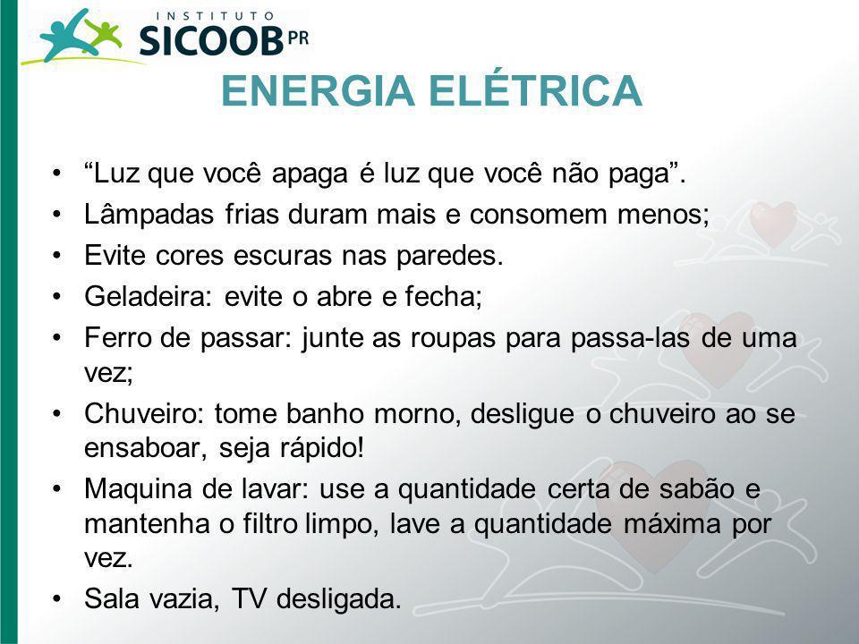 ENERGIA ELÉTRICA Luz que você apaga é luz que você não paga .