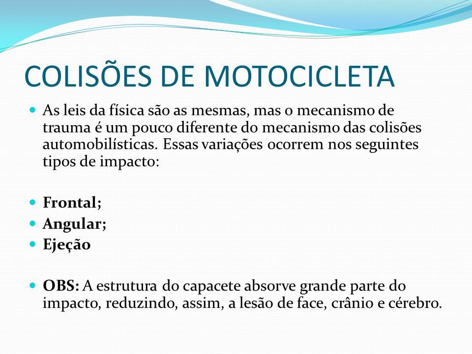 COLISÕES DE MOTOCICLETA