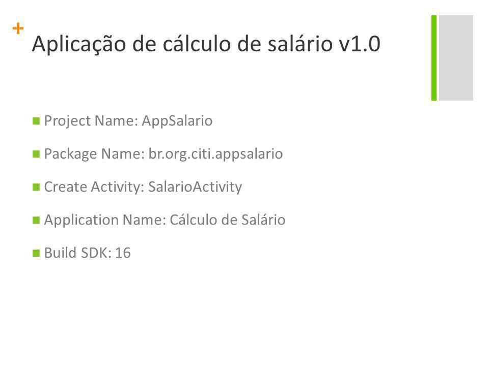 Aplicação de cálculo de salário v1.0
