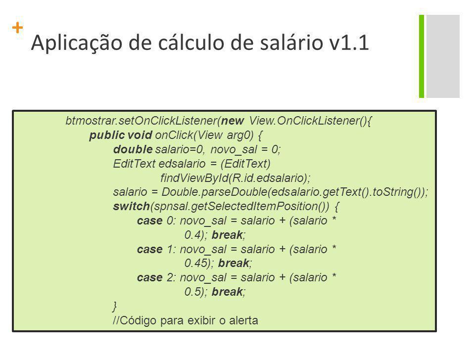 Aplicação de cálculo de salário v1.1
