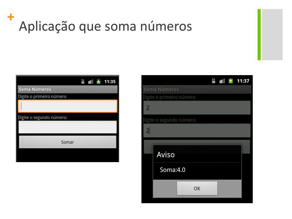 Aplicação que soma números