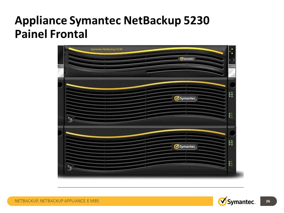 Appliance Symantec NetBackup 5230 Painel Frontal