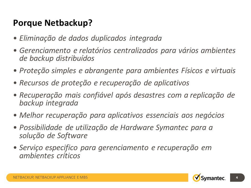 Porque Netbackup Eliminação de dados duplicados integrada