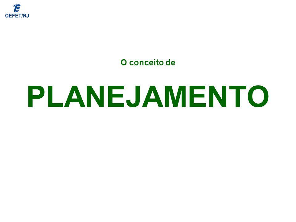 O conceito de PLANEJAMENTO