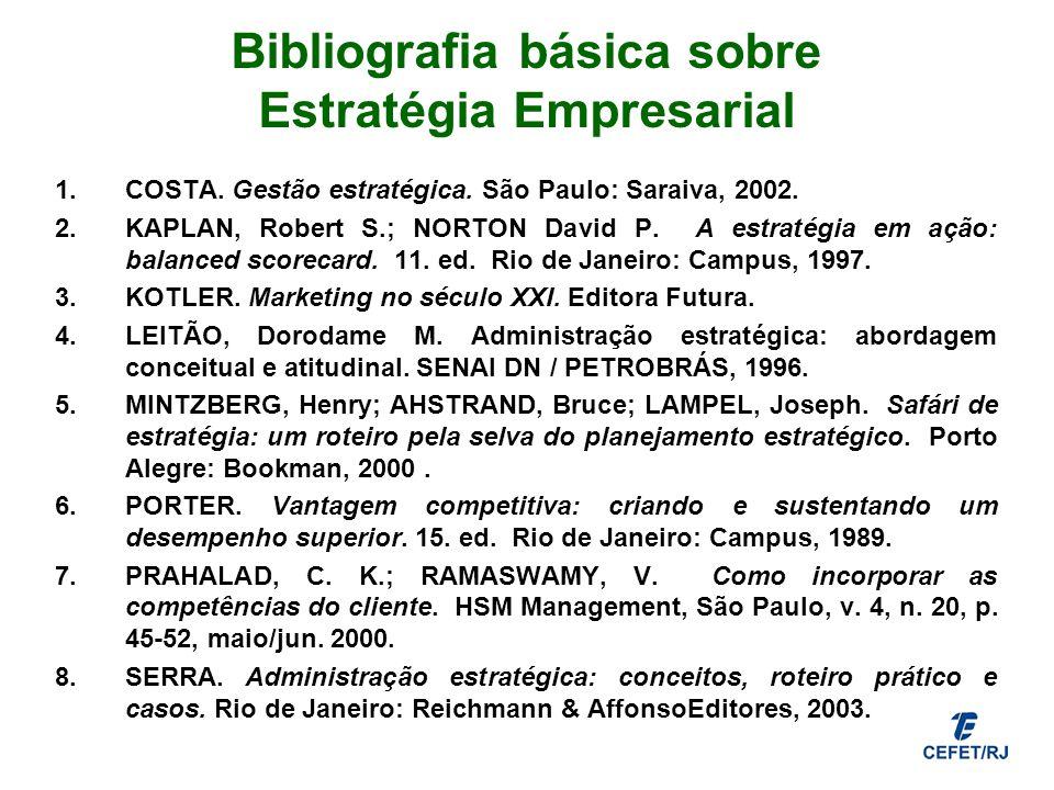 Bibliografia básica sobre Estratégia Empresarial