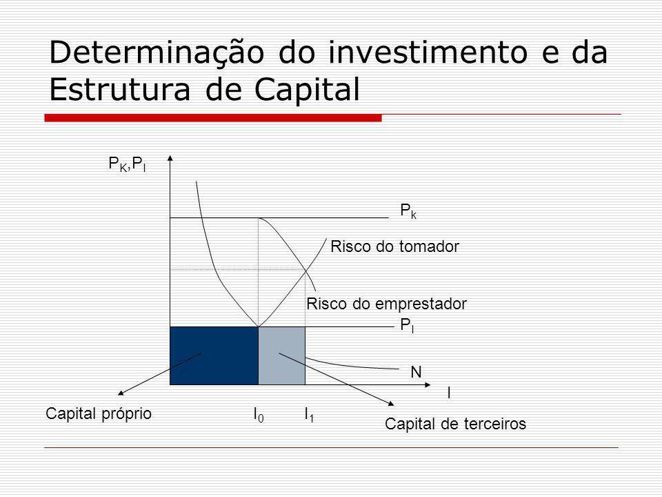 Determinação do investimento e da Estrutura de Capital