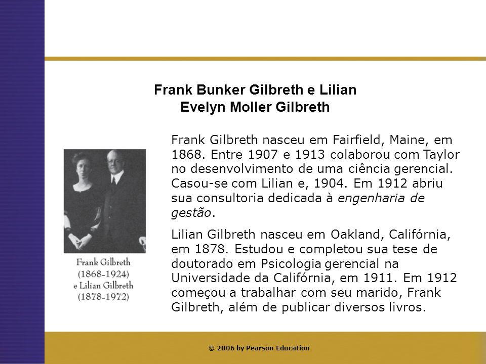 Principais publicações de Frank Gilbreth e Lilian Gilbreth