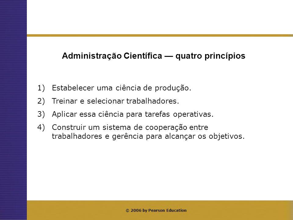 Administração Científica — elementos básicos
