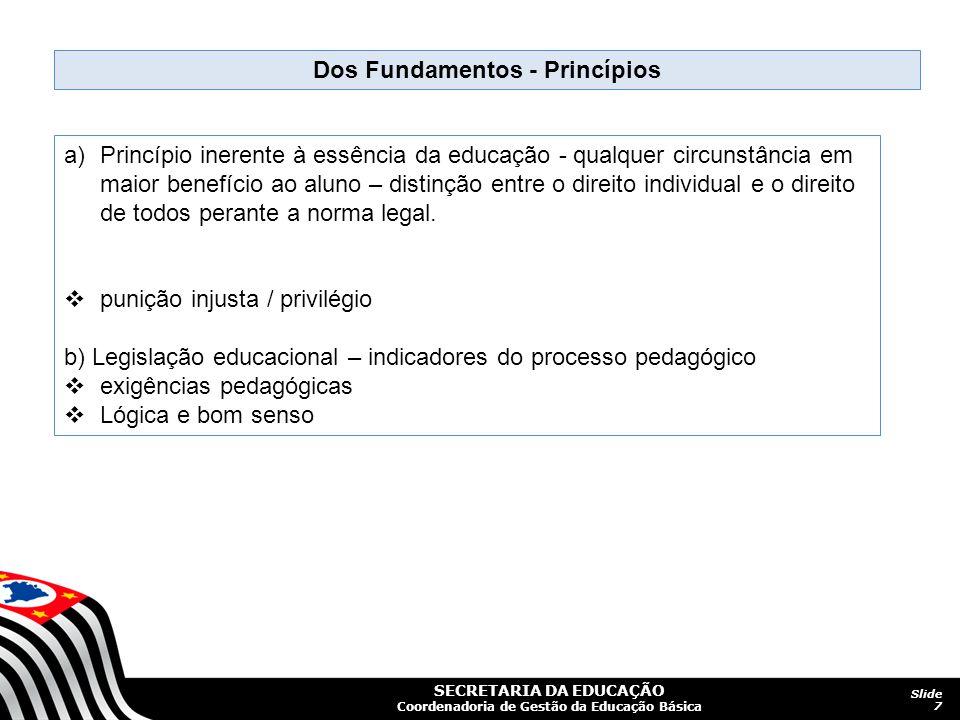 Dos Fundamentos - Princípios