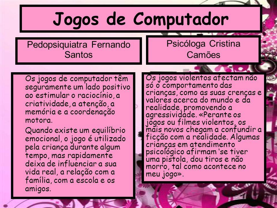 Jogos de Computador Psicóloga Cristina Camões