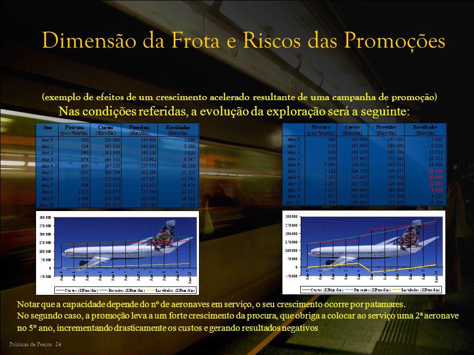 Dimensão da Frota e Riscos das Promoções