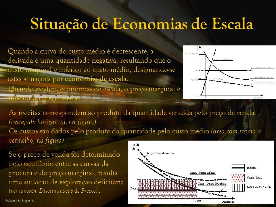Situação de Economias de Escala