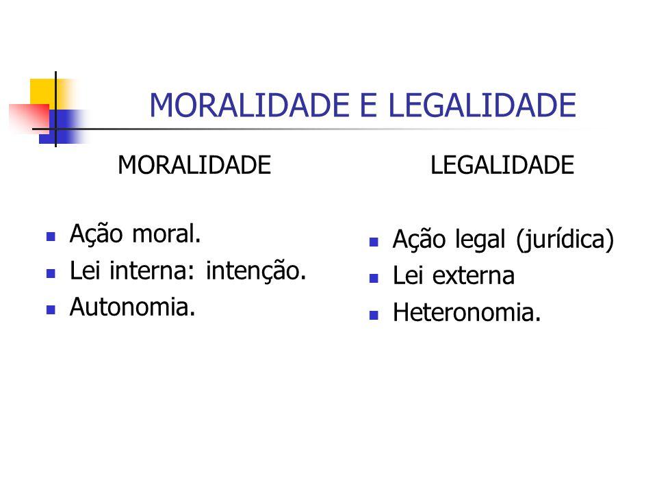 MORALIDADE E LEGALIDADE