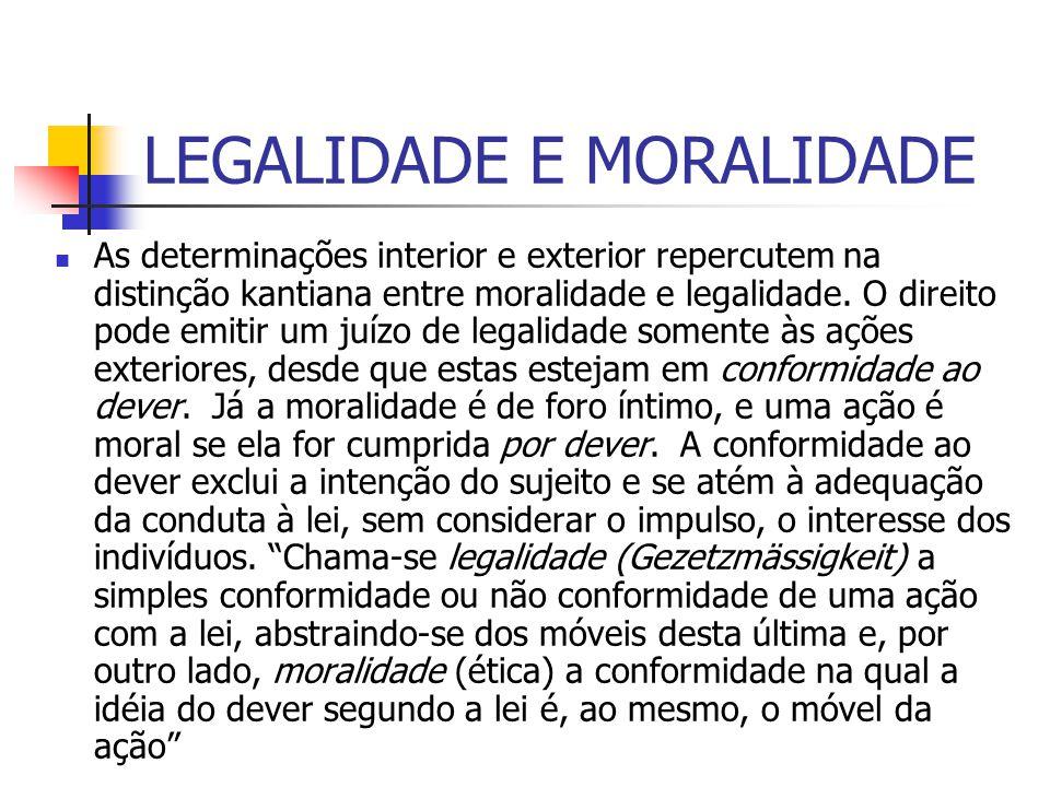 LEGALIDADE E MORALIDADE