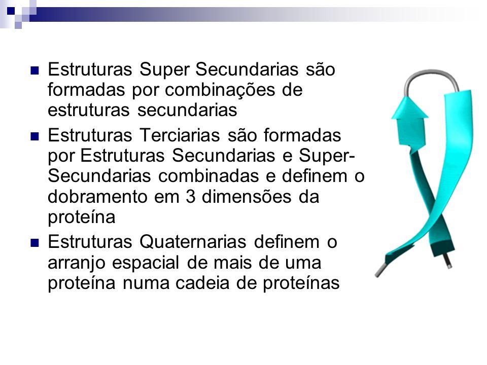 Estruturas Super Secundarias são formadas por combinações de estruturas secundarias