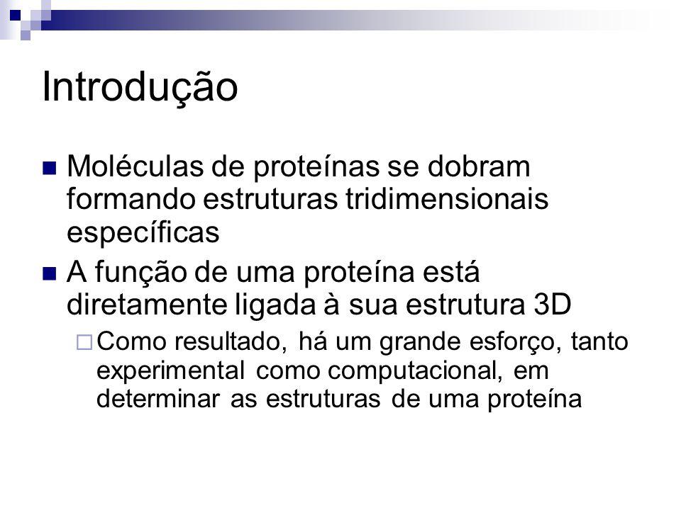 Introdução Moléculas de proteínas se dobram formando estruturas tridimensionais específicas.