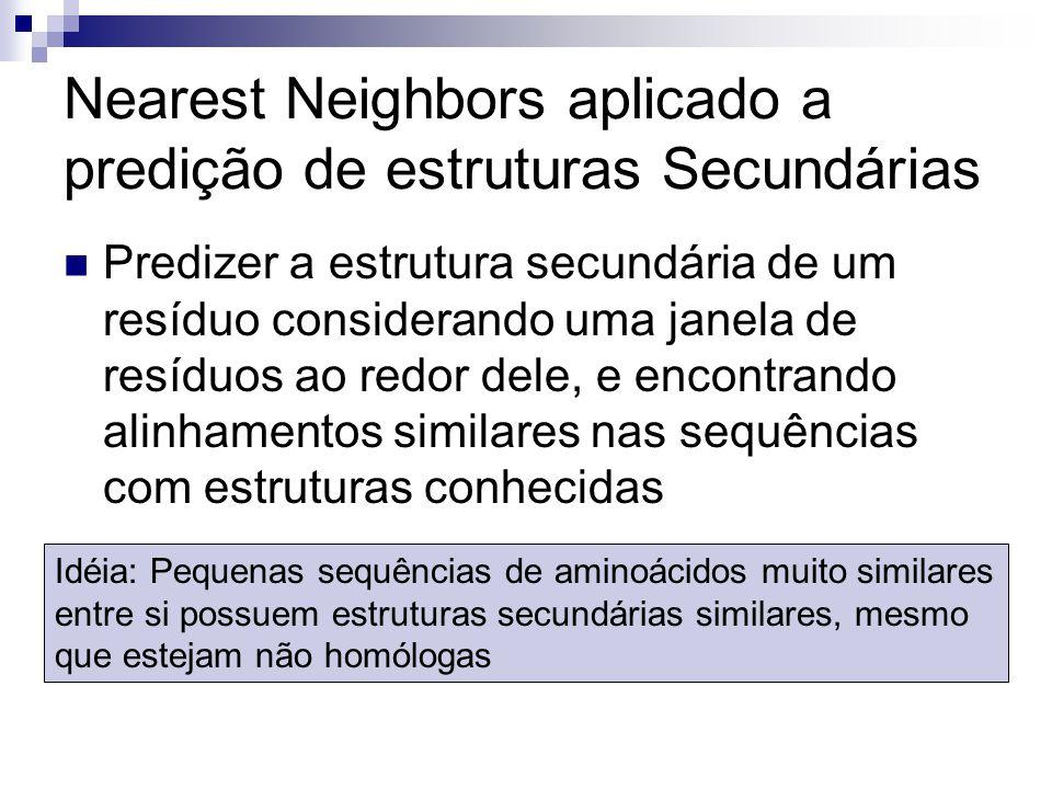 Nearest Neighbors aplicado a predição de estruturas Secundárias