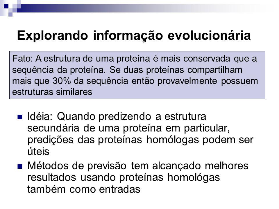 Explorando informação evolucionária