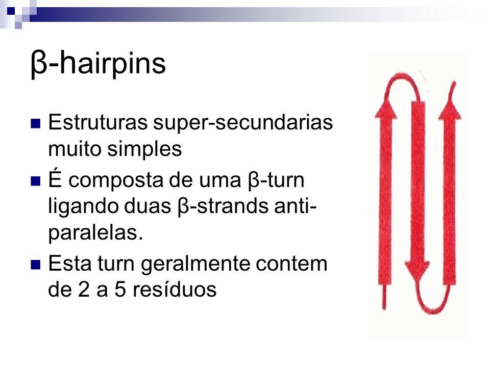 β-hairpins Estruturas super-secundarias muito simples