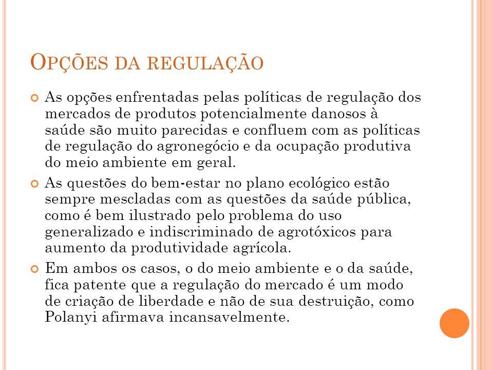 Opções da regulação