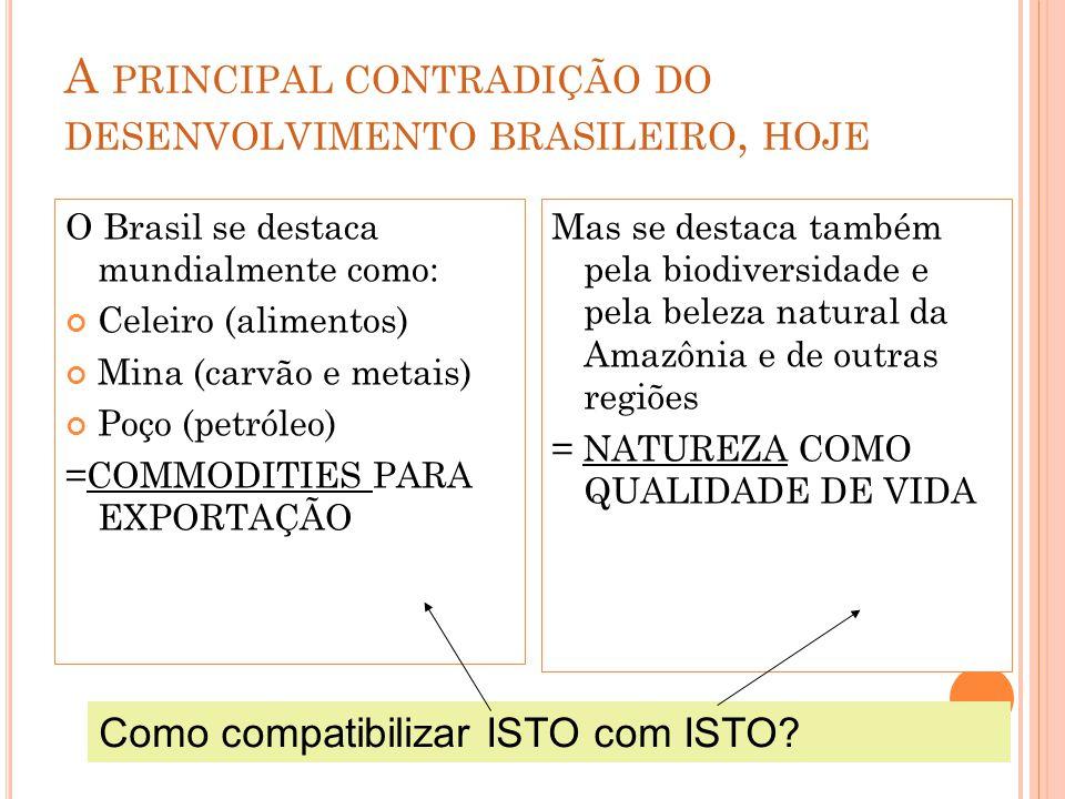 A principal contradição do desenvolvimento brasileiro, hoje