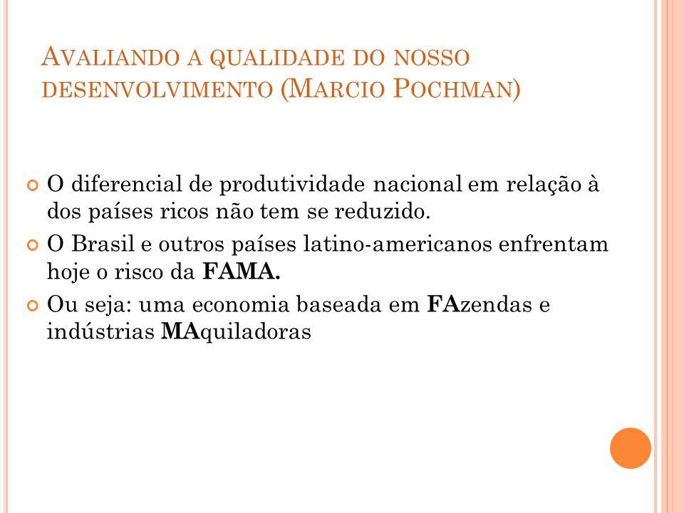 Avaliando a qualidade do nosso desenvolvimento (Marcio Pochman)