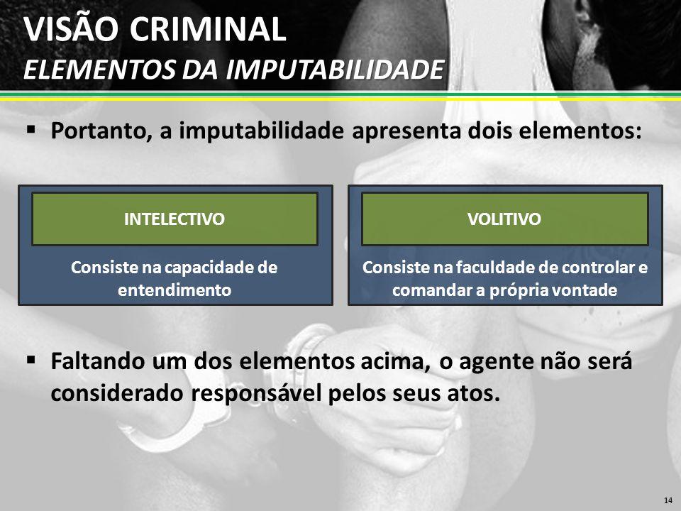 VISÃO CRIMINAL ELEMENTOS DA IMPUTABILIDADE