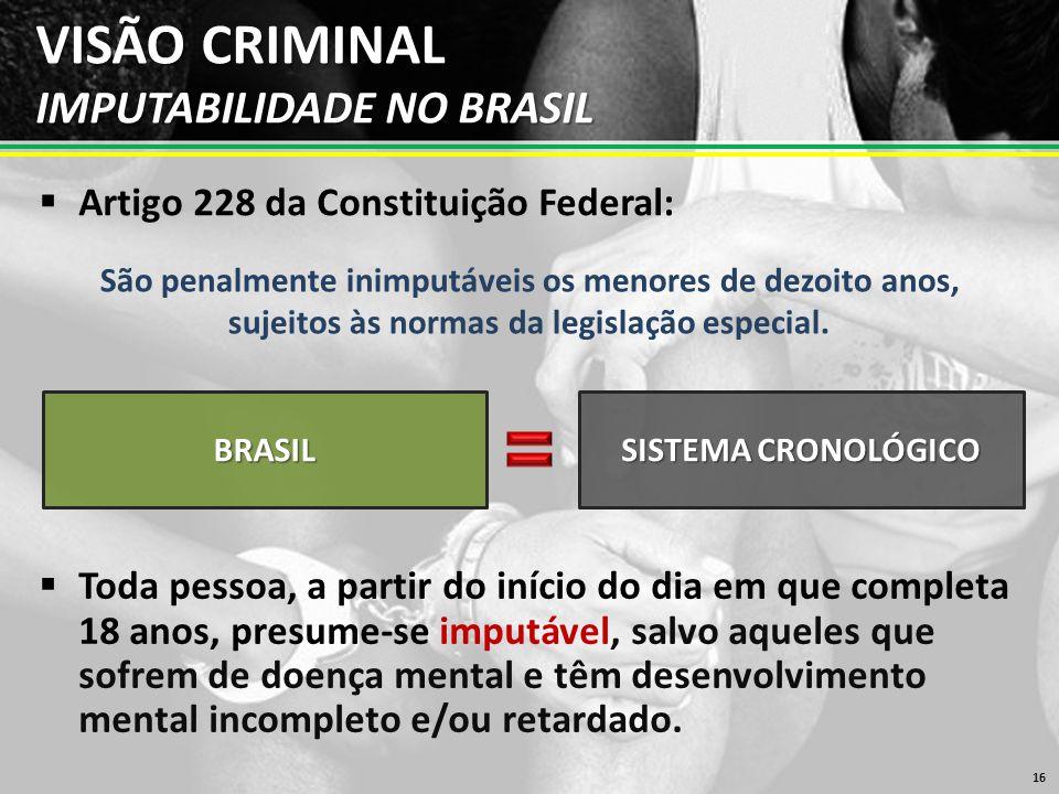 VISÃO CRIMINAL IMPUTABILIDADE NO BRASIL