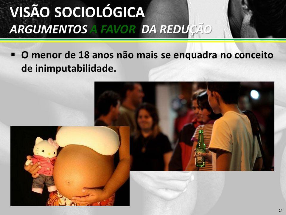 VISÃO SOCIOLÓGICA ARGUMENTOS A FAVOR DA REDUÇÃO