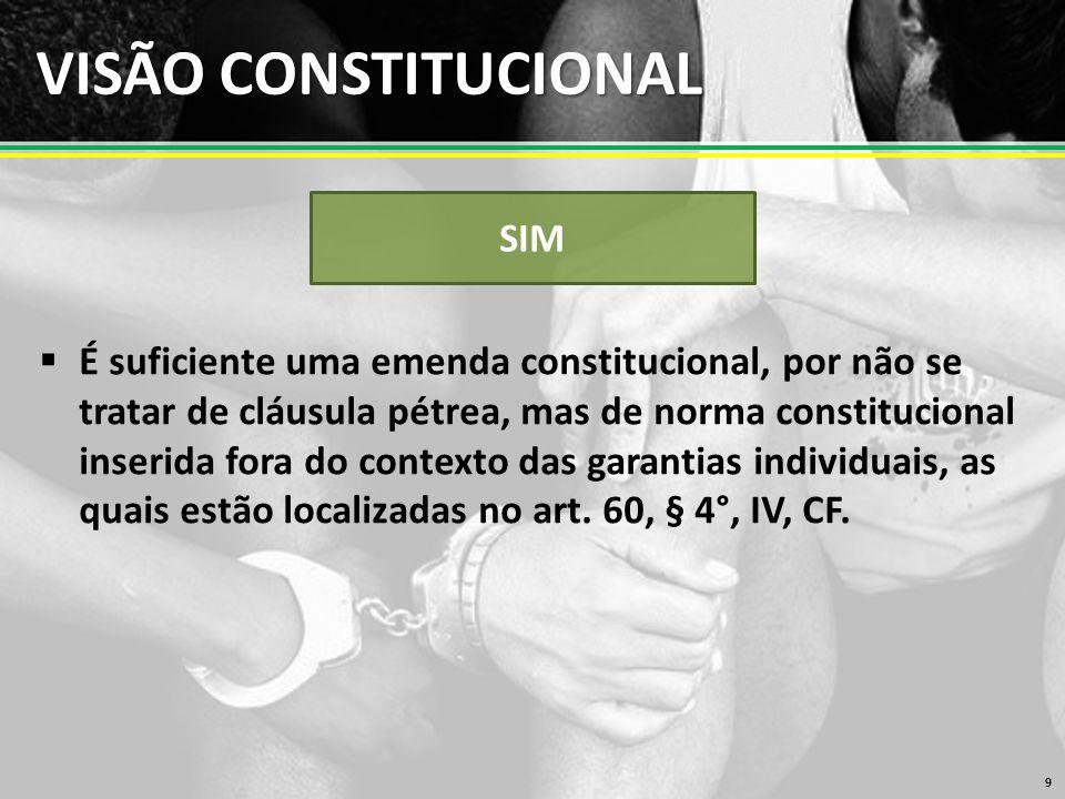 VISÃO CONSTITUCIONAL SIM