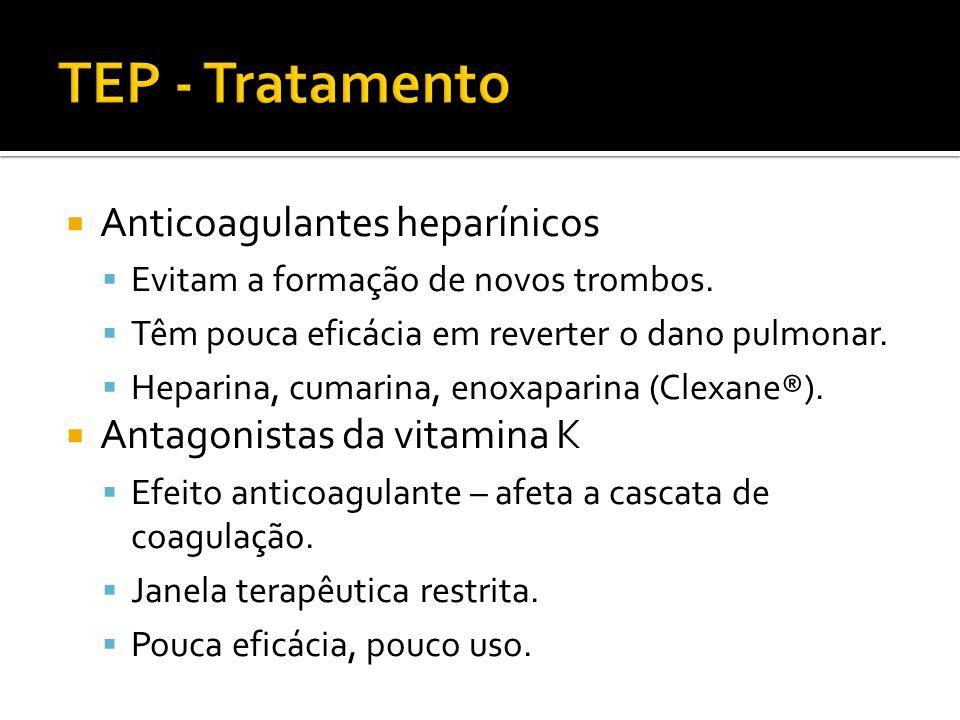 TEP - Tratamento Anticoagulantes heparínicos